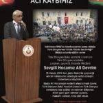 Acı Kaybımız Ali Devrim