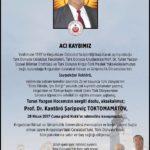 Saygıdeğer Rektörümüz Prof. Dr. Kantörö Şaripoviç TOKTOMAMATOV Hakka Yürüdü