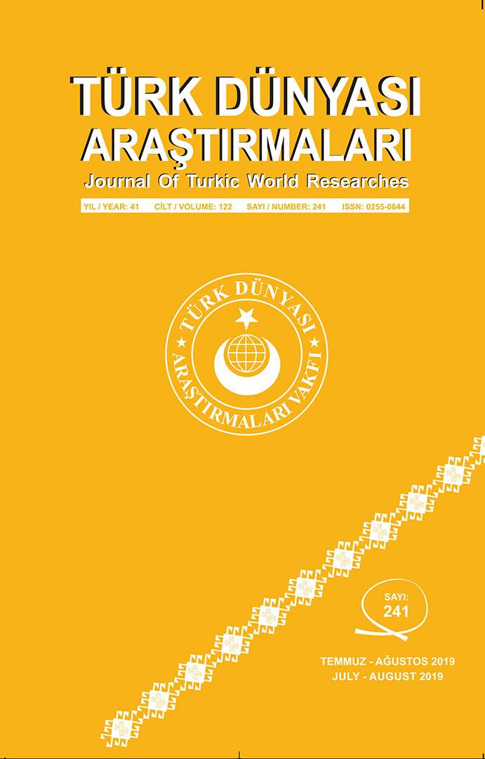 Türk Dünyası Araştırmaları Dergisi Temmuz – Ağustos 2019