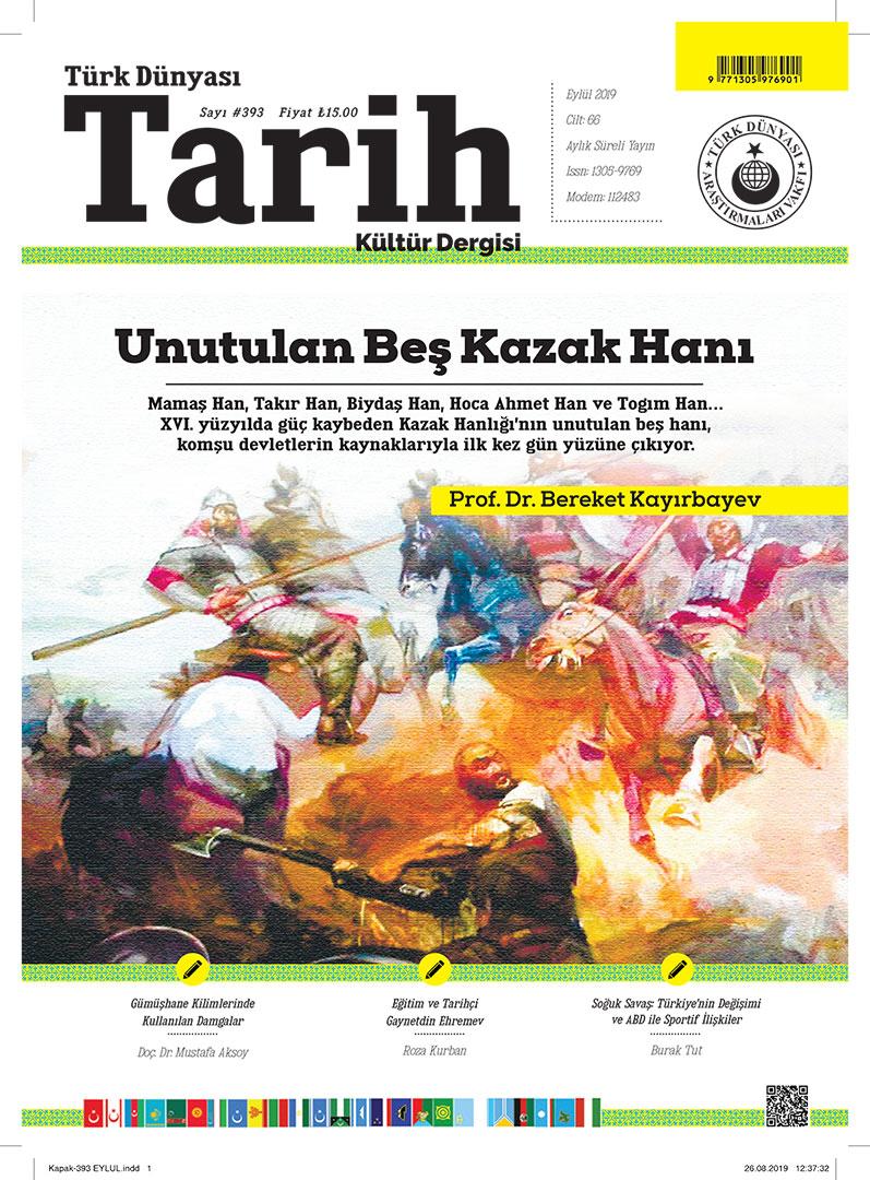 Türk Dünyası Tarih Kültür Dergisi – Eylül 2019