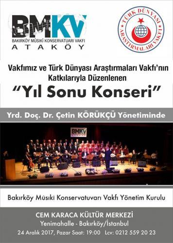 Yıl Sonu Türk Müziği Konseri 2017