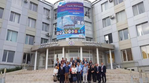15. Uluslararası Türk Dünyası Sosyal Bilimler Kongremizi Gagauz Yeri –Moldova'da gerçekleştirdik