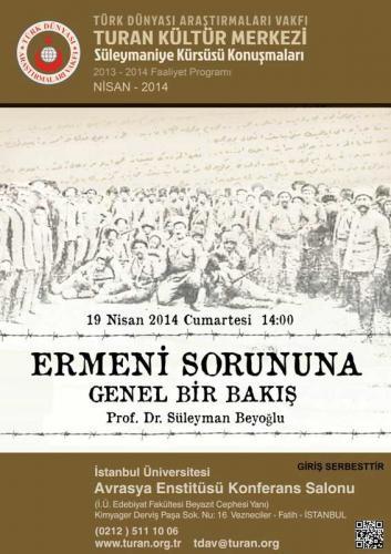 Turan Kültür Merkezi - Ermeni Sorununa Genel Bir Bakış